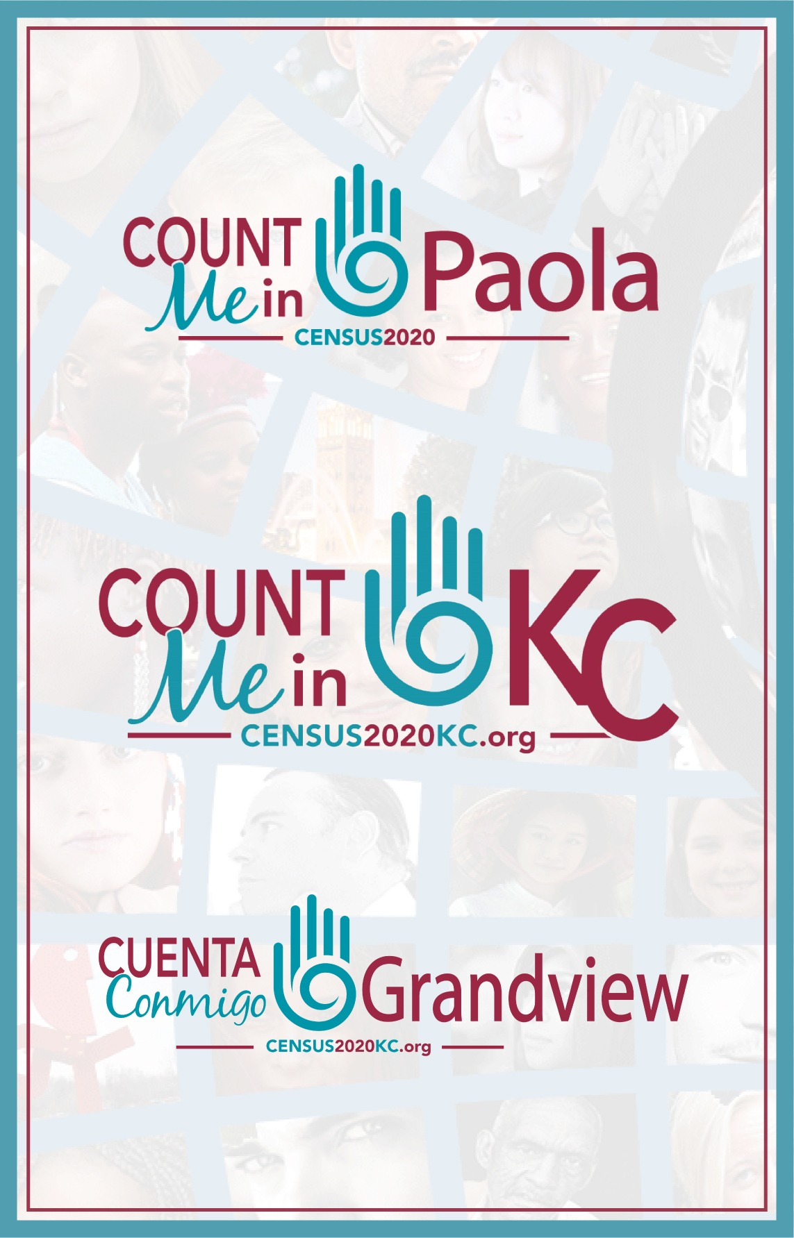 Count me in KC, Paola, Grandview logos